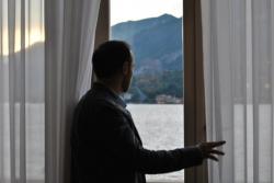 George Andguladze at Lago di Como