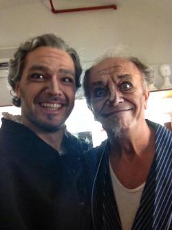 George Andguladze with Leo Nucci Rigoletto Teatro Reggio di Parma
