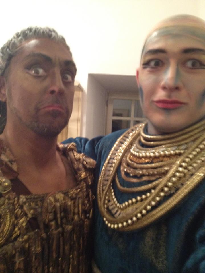 George Andguladze with Alberto Gazale Aida Teatro Regio di Parma 2012
