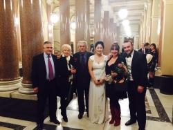 George Andguladze with the georgian ambassador Zaal Gogsadze in Prague, Cristina Park soprano, Madina