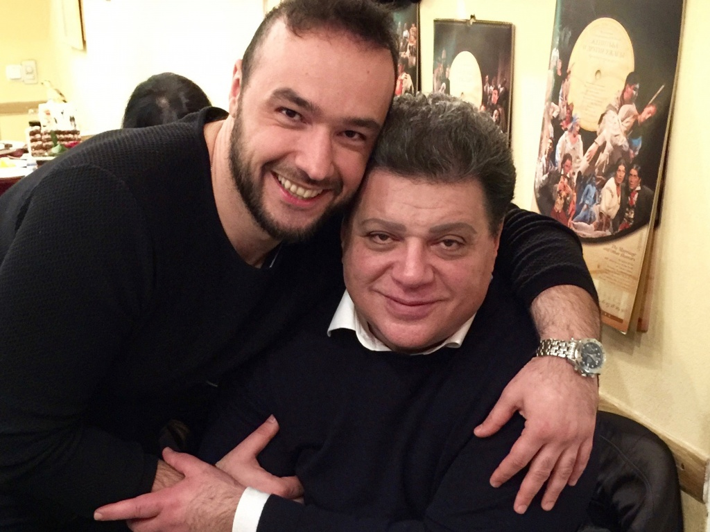 George Andguladze with Badri Maisuradze in Moscow