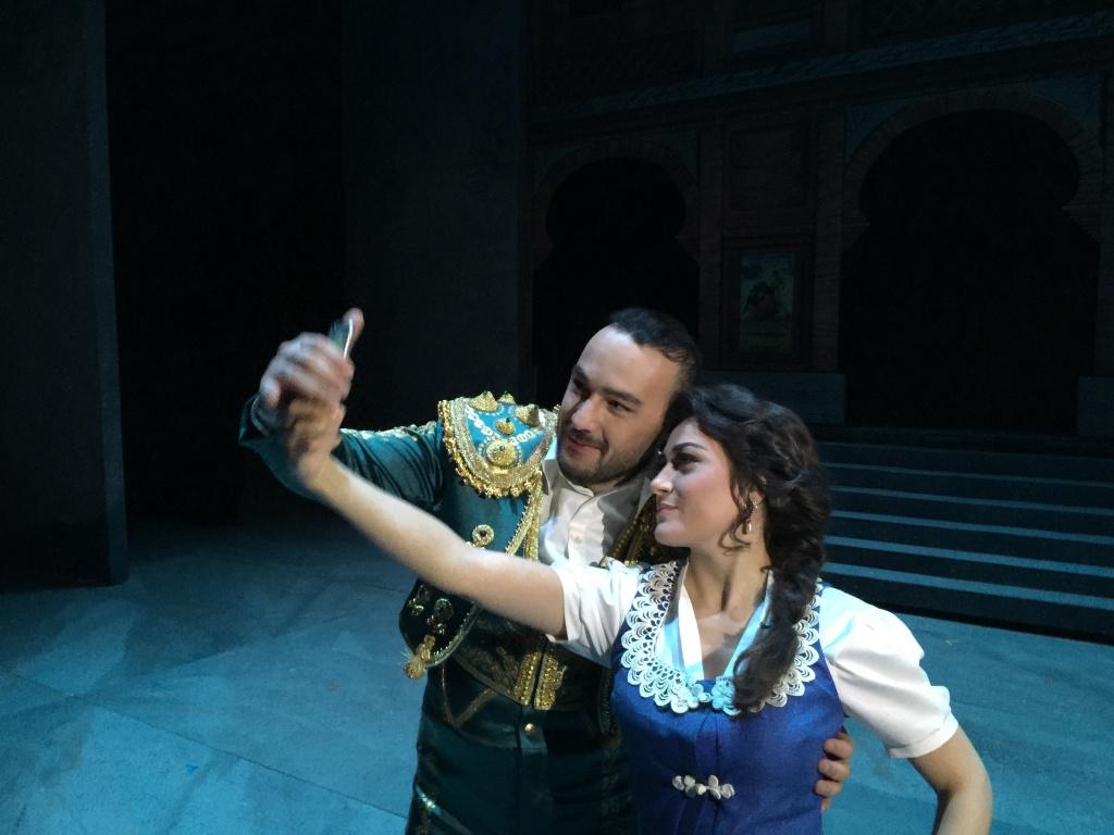 George Andguladze with Valeria Sepe